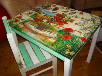 Реставрация детского столика своими руками
