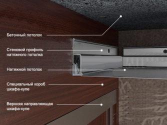 Шкаф купе и натяжной потолок что вначале?