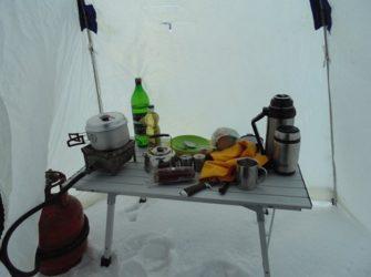 Столик для зимней палатки своими руками