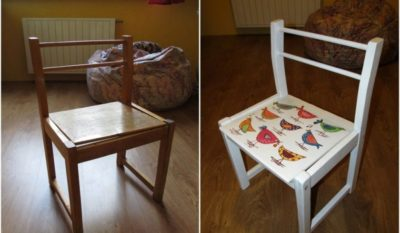 Реставрация детского стульчика своими руками