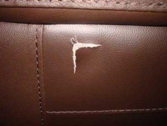 Дырка в кожаном диване как починить?