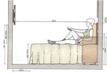 Оптимальная высота телевизора на стене в спальне