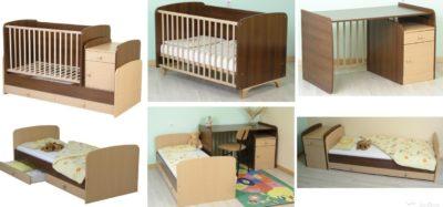 Детская кроватка трансформер как трансформируется?