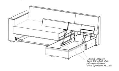 Механизм дивана угловой как разбирается?