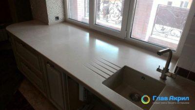 Как соединить столешницу с подоконником на кухне?