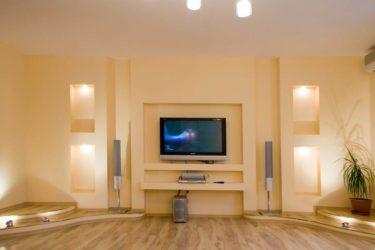 Подиум для телевизора из гипсокартона