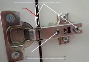 Как отрегулировать дверцу шкафа чтобы она закрывалась?