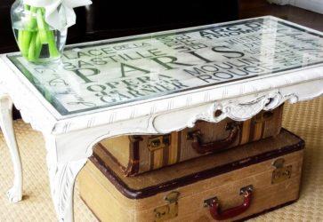 Как декорировать журнальный столик своими руками?